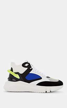 Buscemi Men's Veloce Mixed-Material Sneakers - Black