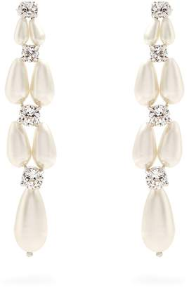 Simone Rocha Faux-pearl and crystal drop earrings