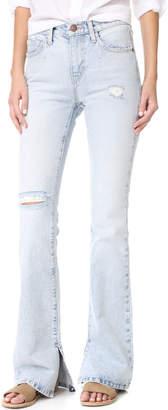 Current/Elliott The High Rise Slit Boot Cut Jeans $248 thestylecure.com