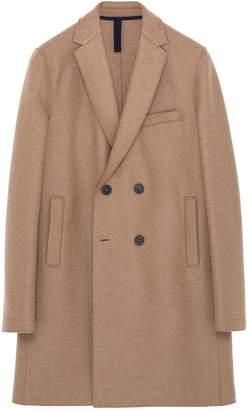 Harris Wharf London Virgin wool melton double breasted coat