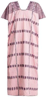 Pippa Holt - No.94 Embroidered Cotton Kaftan - Womens - Pink Multi