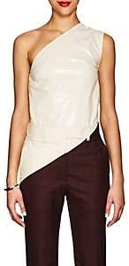Calvin Klein Women's Coated Cotton-Blend One-Shoulder Top - Cream