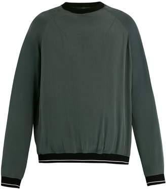 Haider Ackermann Contrasting detail silk-crepe sweater