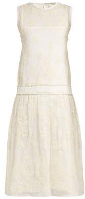 Queene and Belle Liliana Embroidered Mesh Dress - Womens - Cream
