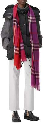 Burberry Color-Block Check Scarf