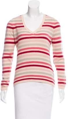 Loro Piana Suede-Accented Cashmere Sweater