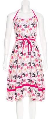 Milly Floral Halter Dress