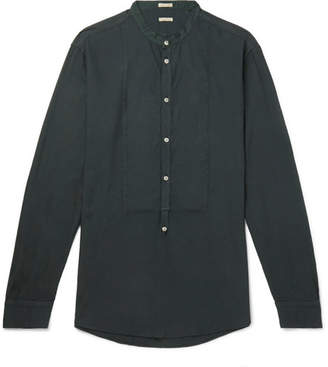 Massimo Alba Grandad-Collar Modal And Cotton-Blend Twill Half-Placket Shirt