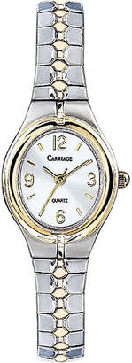 Timex Carriage by Womens Two-Tone Stainless Steel Expansion Bracelet Watch C6A2419J