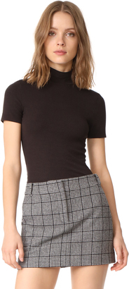 Three Dots Ribbed Short Sleeve Turtleneck $62 thestylecure.com