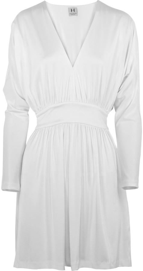Halston Heritage Stretch-jersey V-neck dress