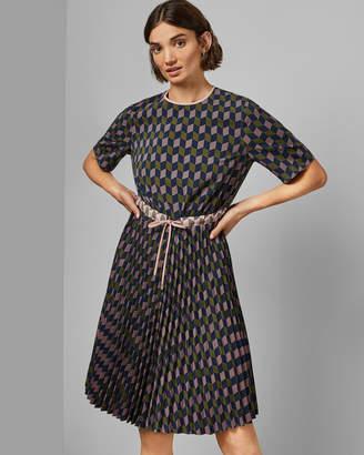 Ted Baker LLOYDII Printed midi dress