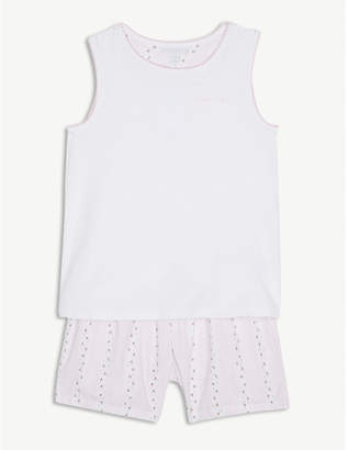 The Little White Company Sleep tight embroidered cotton pyjamas 7-12 years