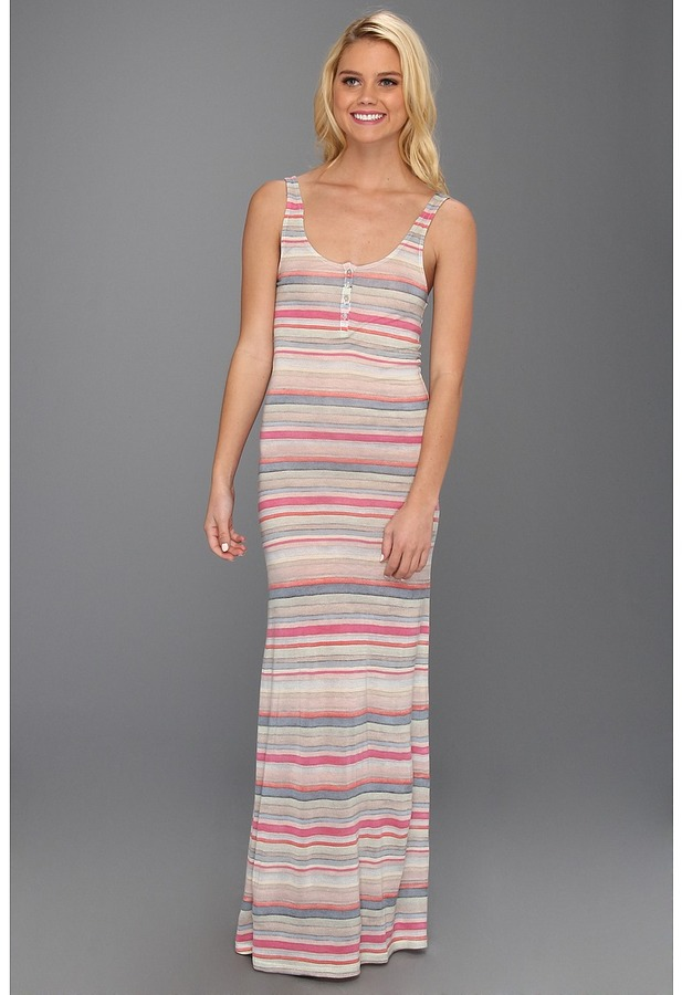 Quiksilver Topanga Maxi Dress (Topanga Stripe) - Apparel