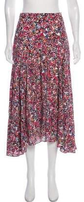 Saloni Silk Knee-Length Skirt