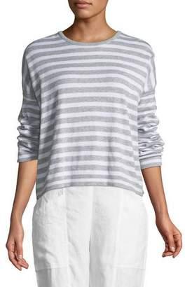 Eileen Fisher Organic Linen Striped Sweatshirt