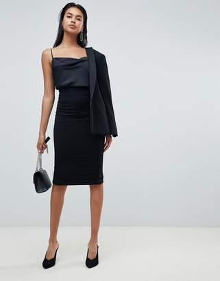 Sisley classic zip back midi skirt