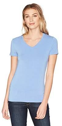 Lark & Ro Women's Short-Sleeve Soft V-Neck T-Shirt