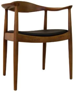 Ash Control Brand DC604 The Kennedy Chair In Walnut Finish Solid Timber