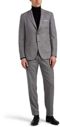 John Vizzone Men's Basket-Weave Wool Two-Button Suit