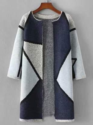 Shein Geo Pattern Long Cardigan