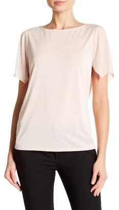 Ellen Tracy Cold Shoulder Cutout Back Top