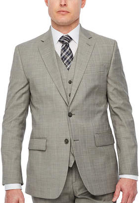 STAFFORD Stafford Brown Check Classic Fit Stretch Suit Jacket