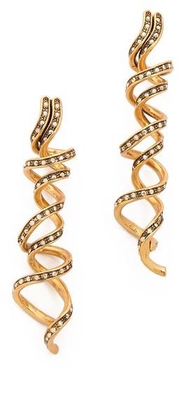 Oscar de la Renta Spiral Earrings