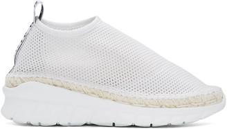 Kenzo White Scuba Mesh Sneakers $320 thestylecure.com