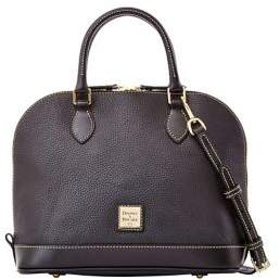 Dooney & Bourke Zip Zip Pebbled Leather Satchel