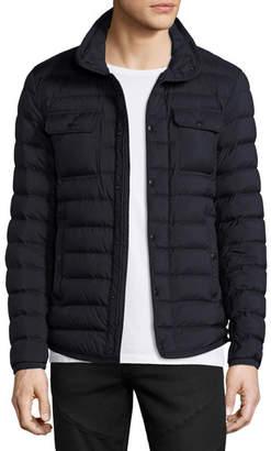 Moncler Faust Puffer Shirt Jacket, Navy
