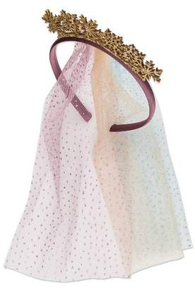 Scunci Frozen 2 Fabric Headband with Snowflakes and Veil - 1ct