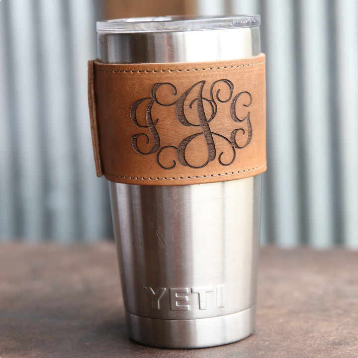 Etsy Personalized Bridesmaid Gift - Monogrammed Wrap with Handle, for the 20oz Yeti Tumbler - The Rocket