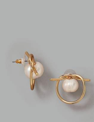 9745b5b80 AutographMarks and Spencer Circle Knot Stud Earrings