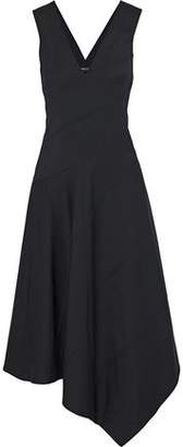 Derek Lam Asymmetric Crepe Midi Dress