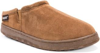 Muk Luks Men's Leather Berber Fleece Slippers