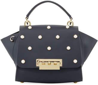 Zac Posen Eartha Iconic Pearly Crossbody Bag, Dark Blue