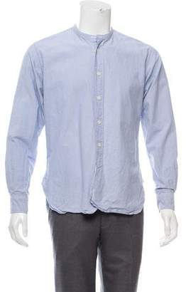 Mhl By Margaret Howell Collarless Button-Up Shirt