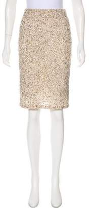 Alice + Olivia Embellished Fitted Skirt w/ Tags