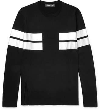 Neil Barrett Slim-Fit Striped Knitted Sweater