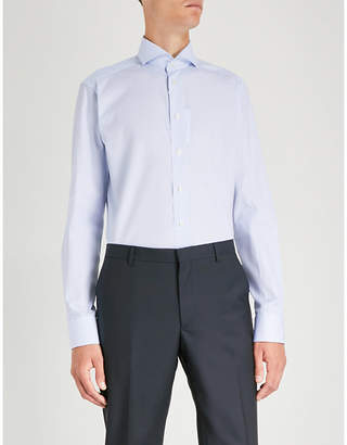 Eton Micro-pattern slim-fit cotton shirt