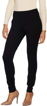 Du Jour Pull-On Ponte Knit Leggings with Pockets