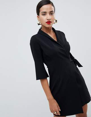 Asos Design DESIGN mini wrap blazer dress