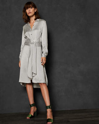 Ted Baker SANDRE Striped wrap shirt dress