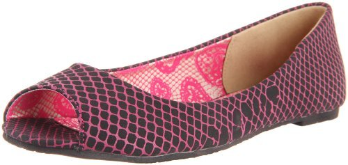Iron Fist Women's Hot Mesh Peep Flat