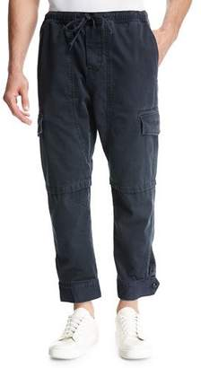 Vince Relaxed Vintage Cotton Cargo Pants, Black