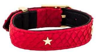 Just Don Studded Python Bracelet