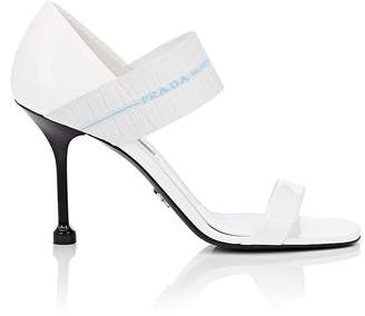Prada Women's Logo-Band Patent Leather Sandals