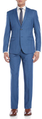 English Laundry Two-Piece Bright Blue Glen Check Suit