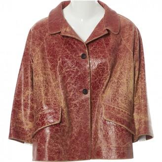 Miu Miu Burgundy Leather Jackets